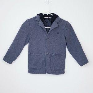 Calvin Klein girl's grey pea coat with hood size 6